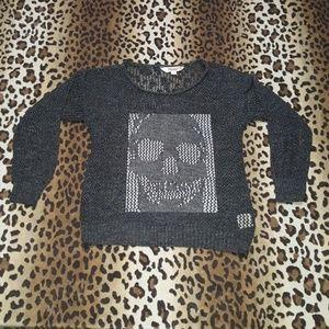 Knitted skull sweater